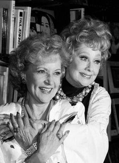 Lucy and Betty White. Funny ladies. I love Betty White, not only for her humor, but for her love of animals. She must have a really good heart.