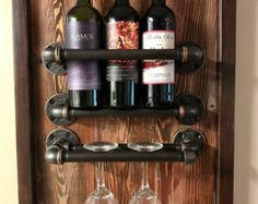 30 Shelf made from Reclaimed Wood and Industrial Pipe