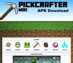 PickCrafter Android Apk Mod Download  PickCrafter is an addictive Minecraft inspired mobile game. Mine gems, craft pickaxes and buy chests full of treasure with PickCrafter!  Tap or swing to break blocks and collect picks. Use your picks to buy chests filled with treasures. Unlock gear with blocks to boost your strength. Explore... http://freenetdownload.com/pickcrafter-android-apk-mod-download/