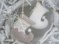 Weihnachtsbaumschmuck im Landhaus - Stil von Feinerlei auf DaWanda.com