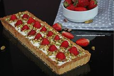 Tarte aux fraises (pâte sablée & fromages)