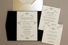Exclusive Broke-Ass Bride Wedding Printables: Elegant Pocketfold Invitations From Download & Print!