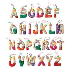 Avon Living Holiday Cheer Alphabet Ornament