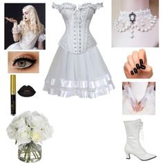 """The White Queen- Alice in Wonderland- Cosplay"" by shadow-cheshire ❤ liked on… Cute Disney Outfits, Disney Dresses, White Queen Costume, White Rabbit Costumes, Queen Halloween Costumes, Queen Alice, Queen Outfit, Disney Inspired Fashion, Alice In Wonderland Tea Party"