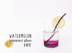 watermelon #summer glass #DIY with #porcelain pens. #Rotuladores cerámicos #porcelana http://idoproyect.com/ceramica/rotulador-ceramica-amarillo.html#/rotulador_ceramica-rojo