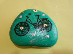 Stone painting Bicycle