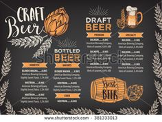 Beer Menu Template  Menu Templates Menu And Template