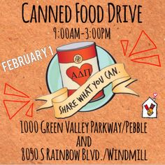 UNLV ADPi RMH Canned Food Drive Flyer 2014  Can Food Drive Flyer Template