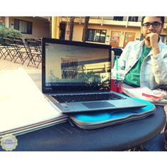 Working outside always helps me get focused! #college #study