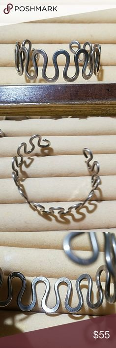 Syerling Silver Vintage LEVIN Cuff Bracelet In as found condition Sterling Silver .925 LEVIN Jewelry Bracelets