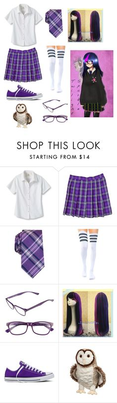 """""""Twilight Sparkle"""" by tictoctabby on Polyvore featuring Lands' End, Nautica, Corinne McCormack and Converse"""