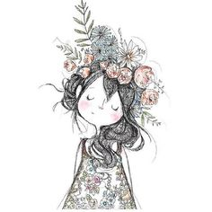 People who like this Art And Illustration, Little Girl Illustrations, Character Art, Character Design, Cute Drawings, Doodle Art, Art Sketches, Painting & Drawing, Watercolor Art