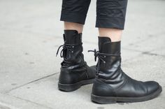 Alex Fisher in Ann Demeulemeester Boots