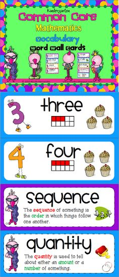 COMMON CORE TITLES--Kindergarten cc word wall