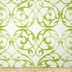 Hamilton Frontgate Kiwi from @fabricdotcom  Screen printed on cotton; this versatile medium/heavyweight fabric is perfect for window accents (draperies, valances, curtains and swags), accent pillows, duvet covers and upholstery. Create handbags, tote bags, aprons and more. Colors include kiwi and white.