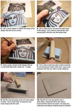 Make a Great Impression: Carving Textured Press Molds and Stamps Out of Insulating Foam, by Daryl Baird - Ceramic Arts Daily Ceramic Techniques, Pottery Techniques, Ceramics Projects, Clay Projects, Ceramic Clay, Ceramic Pottery, Zentangle, Ceramic Arts Daily, Make Your Own Stamp