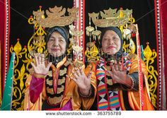 Tuaran Sabah Malaysia-Jan 17, 2016:Bajau ladies in traditional costume  during festival.Bajau tribe, among the bigest tribe in Sabah is famous with striking costume colors.