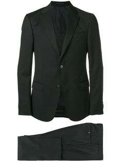 Z Zegna Classic Fitted Suit - Black e264d3264d3