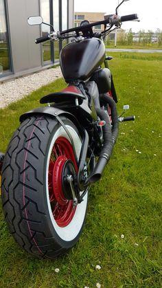 Honda Shadow Bobber, Honda Bobber, Bobber Bikes, Bobber Motorcycle, Bobber Chopper, Vintage Motorcycles, Harley Davidson Motorcycles, Custom Motorcycles, Custom Bikes