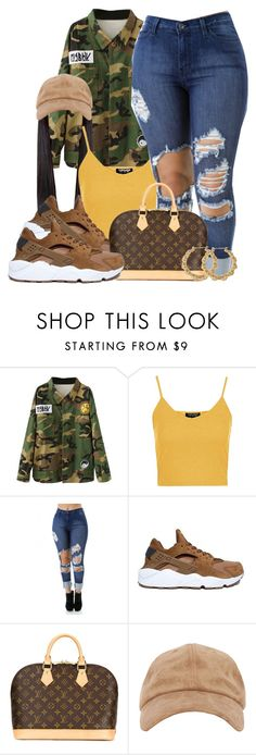 """Untitled #526"" by b-elkstone ❤ liked on Polyvore featuring Topshop, NIKE and Louis Vuitton"