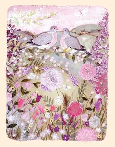 This painting by Lucy Grossmith is our colour inspiration for Saturday.  Candy pinks, lilac, and those background neutrals of beigey-grey. Hope you enjoy x