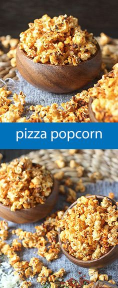 Ready for the best mashup in the universe? All the flavors in pizza – Tangy tomato, aromatic basil, oregano, garlic powder and crushed pepper flakes are baked into popped corn kernels. And of course, vast amounts of cheese – Because pizza Homemade Popcorn Seasoning, Flavored Popcorn, Popcorn Snacks, Popcorn Kernels, Cheese Popcorn, Pop Popcorn, Tapas, Snack Recipes, Popcorn Flavor Recipes