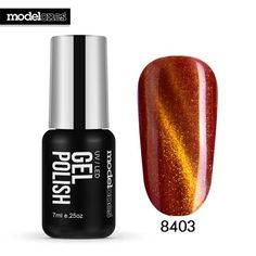Modelones Chameleon Magnet UV Nail Gel Polish UV Led Coffee Color Gel Nail Polish Need Magnet Stick Cat Eyes Gel Lacquer Soak Off Gel Nails, Uv Gel Nail Polish, Uv Gel Nails, Gel Manicure, Cat Eye Gel, Cat Eye Nails, Nail Art Salon, Nail Art Diy, Gel French Manicure