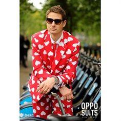 OppoSuit MR LOVER. Jakkesæt med sjovt mønster Romantisk jakkesæt til valentinsdag. #jakke #hjerter #dress #valentin