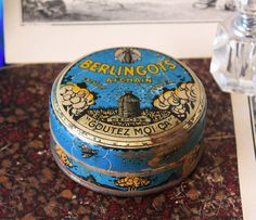 French antique candy tin box Berlingots by LaChineuseFrancaise, €23.95
