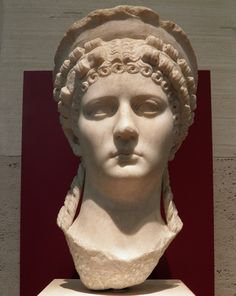 Poppaea Sabina, wife of the Emperor Nero. Marble Bust, 1st century AD, Palazzo Massimo alle Terme, Rome | da Following Hadrian
