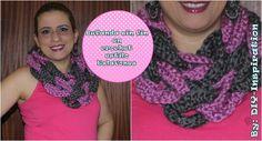 DIY Bufanda sin fin con eslavolenes en crochet   Manualidades