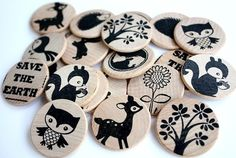 blank wood chips, some stamps, and you've got your home made memory game