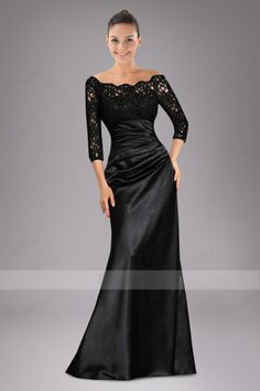 Ceremonious Column Mother of the Bride Dress with Lace Top