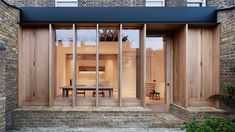 Sullivan Skoufoglou Architects has extended a typical terraced home in London, by adding a new timber-lined room that opens onto a brick-paved garden Modern Architecture House, Sustainable Architecture, Modern House Design, Architecture Details, Interior Architecture, Interior And Exterior, Fashion Architecture, Architecture Quotes, Church Architecture