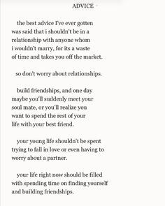 Teenage Love Advice Quotes : Some good advice : for teenagers : Quotes and sayings More