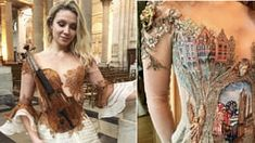 """Woman Creates Fine """"Wearable Storybook"""" Dresses That Pay Tribute To A Historic French Town"""