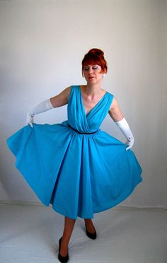 1960s Dress Baby Blue Mad Men Formal Dress Weddings by gogovintage, $120.00