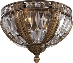 View the ELK Lighting 2493/4 4 Light Flush Mount Ceiling Fixture from the Millwood Collection at LightingDirect.com.