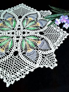 Crochet lace doily Cream doily 12,6 inches Lace table topper Home decor doilies Handmade doilies Han