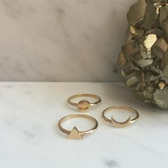 Element rings Fire Water and Air designed to be worn on your pinky finger and attract the ability to be creative dynamic and have clarity of thought. #ZoeAndMorgan #goldrings #9karat