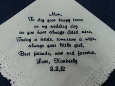 Gift for Mother of the Bride Wedding by InspiredStitches on Etsy, $23.00