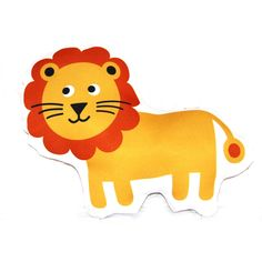 Scoops Design - Orange and Yellow Lion cushion (small) - hardtofind
