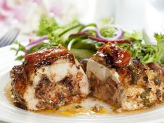 Seven Different Recipes For Stuffed Chicken Breast - Recipe Station Turkey Recipes, Chicken Recipes, Baked Chicken, Stuffed Chicken, Chicken Olives, Mushroom Chicken, Pesto Chicken, Breast Recipe, Different Recipes