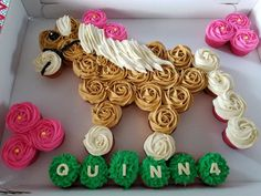 Themed Parties, Party Themes, Third Birthday, Birthday Ideas, Cup Cakes, Cupcake Cakes, Girl Birthday Cupcakes, Pull Apart Cake, Horse Party