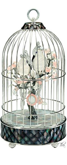 Chanel / karen cox.Chanel ● The Birds Cage Clock showcased at Biennale of Antiquaires