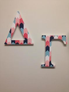 2 PAINTED SORORITY LETTERS Any 2 Greek letters 12 by ShopDesmond