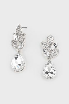 Crystal Delphi Earrings in Ice on Emma Stine Limited