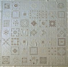 Jeanny's Merklapperie en nog veel meer !: witte pronkrol - drawn thread sampler