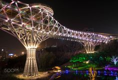 Tabiat Bridge in Tehran
