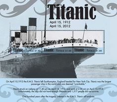 of April 2012 Titanic Centennary. Rms Titanic, Commonwealth, Stamp Collecting, Postage Stamps, Boats, Ship, Seals, Coat Of Arms, Cities